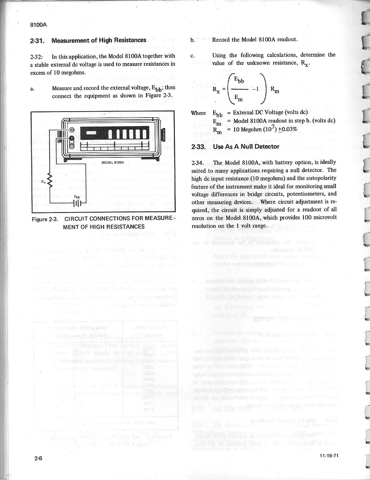 Fluke 8100a And 8100b Schematics Manual External Schematic This Is The Of Connections 2 6