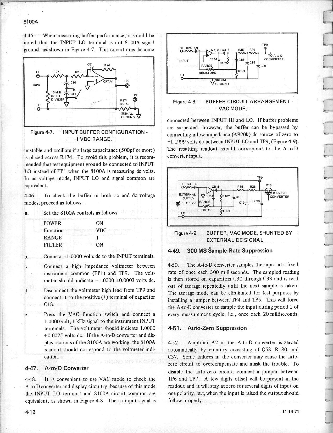 Fluke 8100a And 8100b Schematics Manual Voltmeter Schematic 4 12