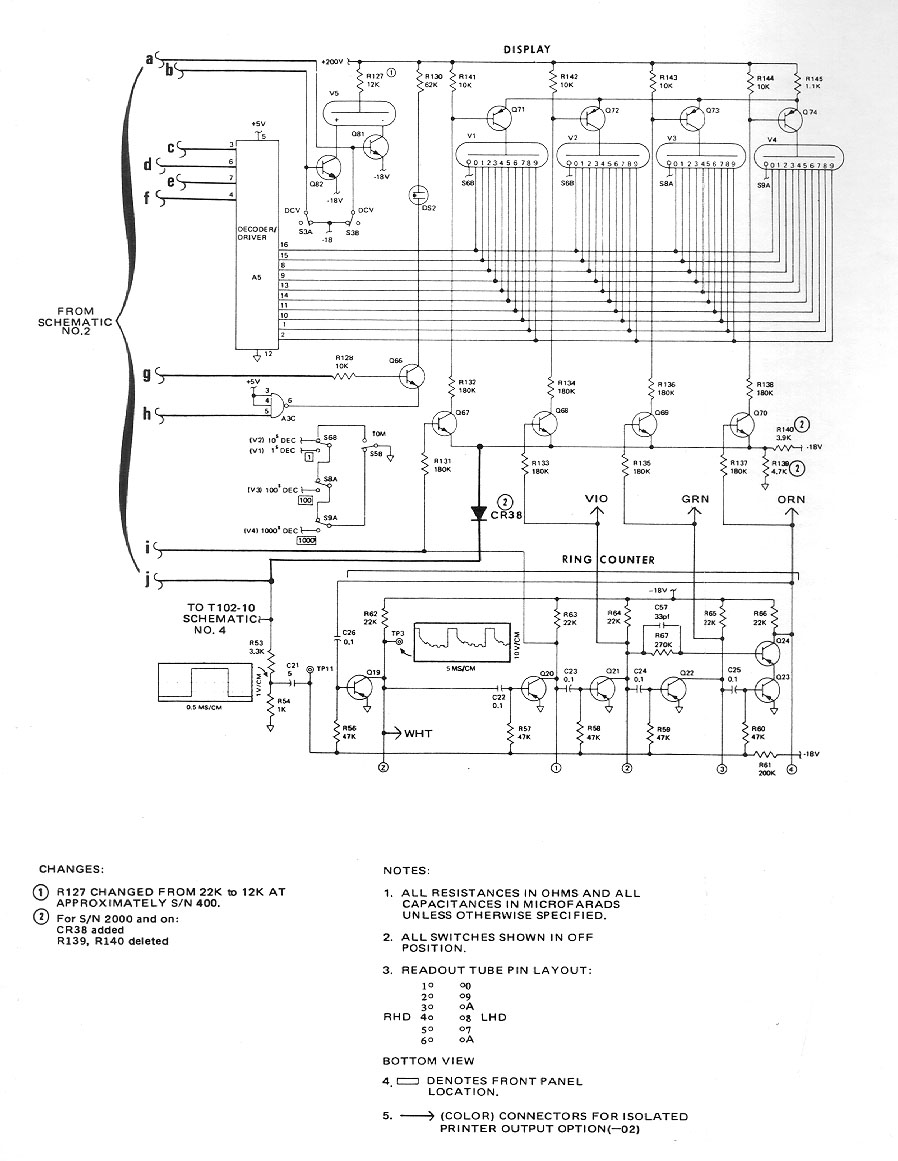 Fluke 8100a And 8100b Schematics Manual Nixieclock 1 Schematic Sourcecode Availiable For Early Prod Schem P3