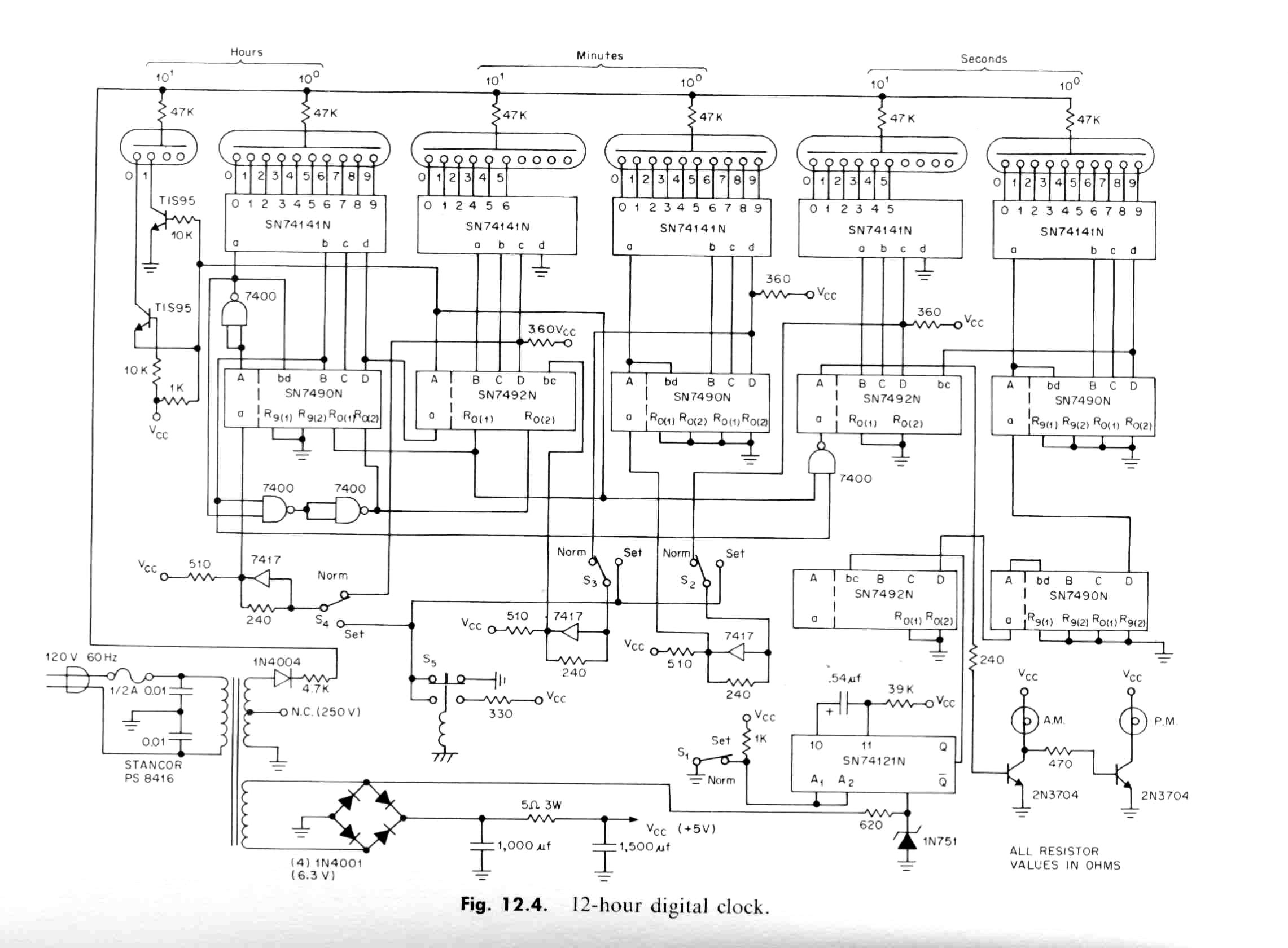 Here's the TI TTL Designer's Handbook clock schematic ...